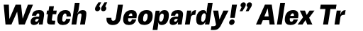 Avion Bold Oblique sample