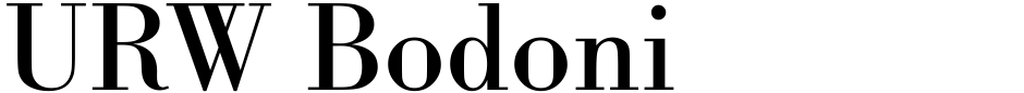 Click to view  URW Bodoni font, character set and sample text