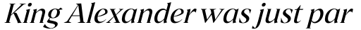 Archeron Pro Regular italic sample