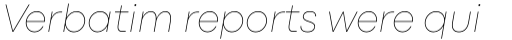 Codec Pro Thin Italic sample