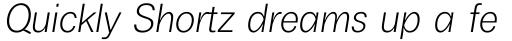 Boring Sans A Light Italic sample