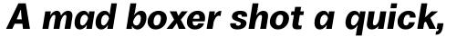 Boring Sans A Bold Italic sample