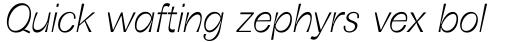 Boring Sans B Light Italic sample