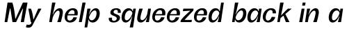 Boring Sans B Medium Italic sample