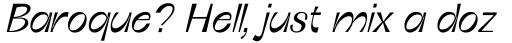 Boring Sans C Light Italic sample
