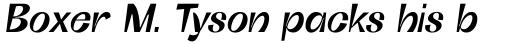 Boring Sans C Medium Italic sample