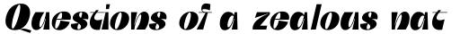 Boring Sans C Heavy Italic sample