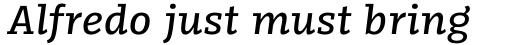 FF Kaytek Slab Medium Italic sample