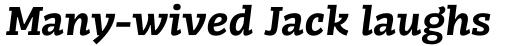 FF Kaytek Slab Bold Italic sample
