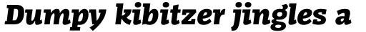 FF Kaytek Slab Black Italic sample