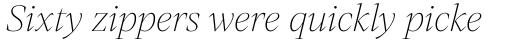 Mixta Pro Ultra Light Italic sample