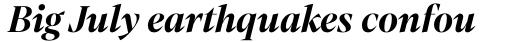 Mixta Pro Bold Italic sample