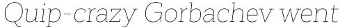 Corporative Slab Hair Italic sample