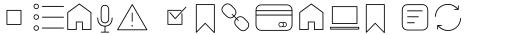 Aristotelica Pro Aristotelica Pro Icons Thin sample