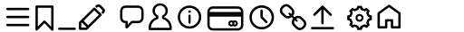 Aristotelica Pro Aristotelica Pro Icons Light sample