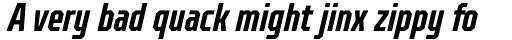 TT Octosquares Compressed DemiBold Italic sample