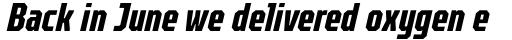 TT Octosquares Compressed Bold Italic sample