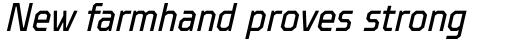 TT Octosquares Condensed Italic sample