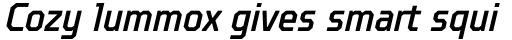 TT Octosquares Condensed Medium Italic sample