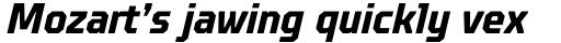 TT Octosquares Condensed Bold Italic sample