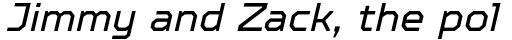 TT Octosquares Italic sample