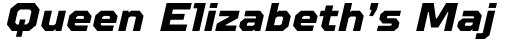 TT Octosquares ExtraBold Italic sample