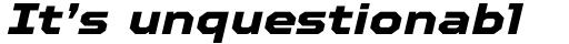 TT Octosquares Expanded ExtraBold Italic sample