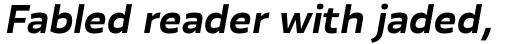 Blom Bold Italic sample