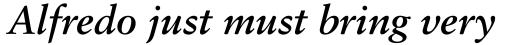 Classical Garamond Std Bold Italic sample