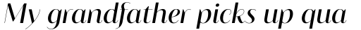 Blacker Sans Pro Display Italic sample