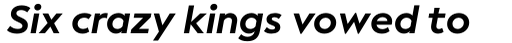 Facundo Bold Italic sample
