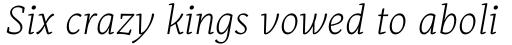 Alkes Thin Italic sample