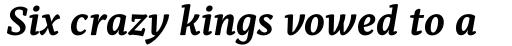 Alkes Bold Italic sample