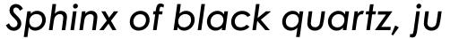 Century Gothic W1G Semi Bold Italic sample