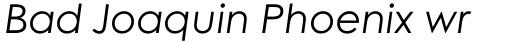 Century Gothic W1G Variable Italic sample
