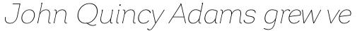 Garbata Thin Italic sample