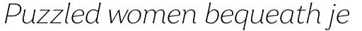 Garbata Extralight Italic sample