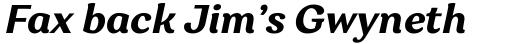 Garbata Bold Italic sample