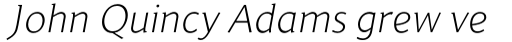 Jaqen Semi Light Italic sample