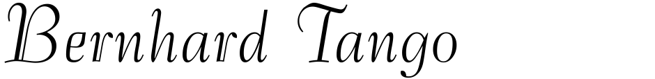 Click to view  Bernhard Tango font, character set and sample text