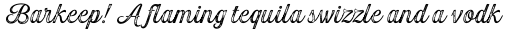 Gambler Script Print Regular sample
