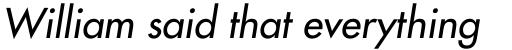 Futura W1G Medium Oblique sample