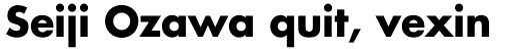 Futura W1G Bold sample