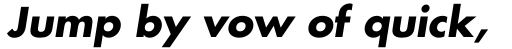 Futura W1G Bold Oblique sample