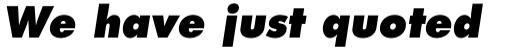 Futura W1G Extra Bold Oblique sample