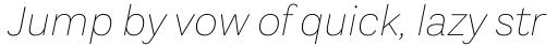 Aestetico Thin Italic sample