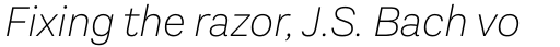 Aestetico Extra Light Italic sample