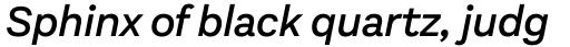 Aestetico Medium Italic sample