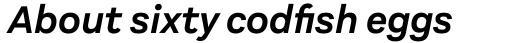 Aestetico Semi Bold Italic sample