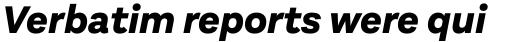 Aestetico Extra Bold Italic sample